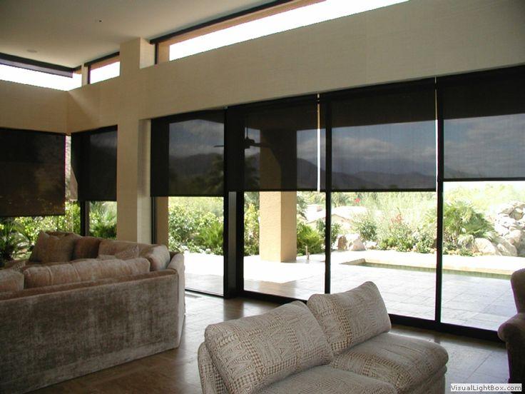 Cortinas roller Screen color negro, modernas. http://www.decorartehogar.com/Cortinas-Roller.htm