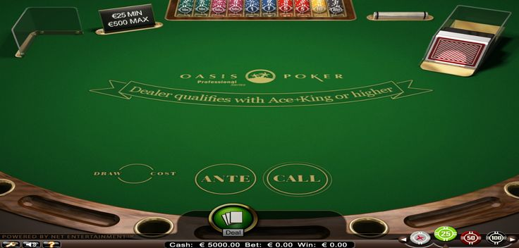 Ordeal your streak of luck today by playing Oasis Poker Pro Game Online @ Betluck, a professional poker table game, bound to give you a truly realistic gaming experience. Learn to play Oasis Poker Pro game with #Betluck Fansite. Play for free with a variety of stakes before you decide to play for real money. Follow us to know more game strategy.