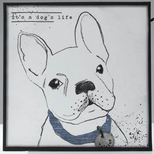 Buy Sketchy French Bulldog Canvas at Argos.co.uk, visit Argos.co.uk to shop online for Pictures and wall art, Limited stock Home and garden, Home furnishings