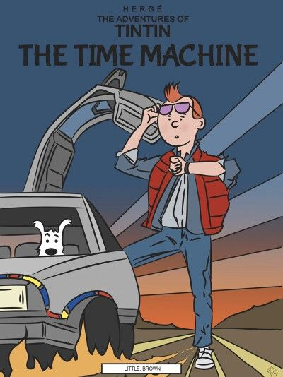 Tintin and Back to the future crossover // WHAT. WHY. and why do i love it.