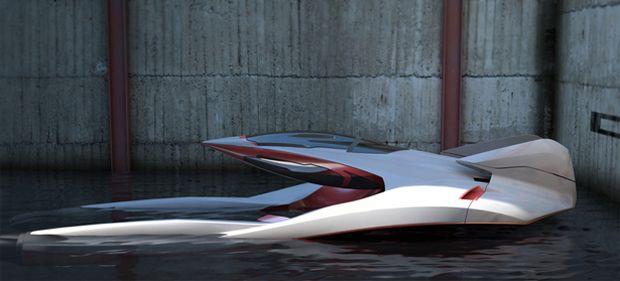 Hidroplano futurista é mistura de avião com barco