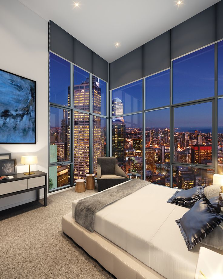 The Penthouse Collection. High up on the 45th floor overlooking the city below, is the exceptional Penthouse Collection featuring beautiful contemporary finishes and an exhaustive list of inclusions. #melbourneone #penthouse