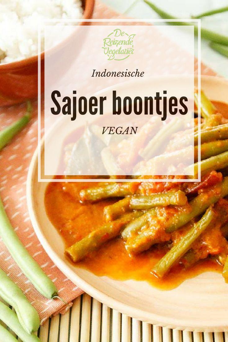 Vegan Indonesische sajoer sperziebonen #vegan #indonesisch #indonesie