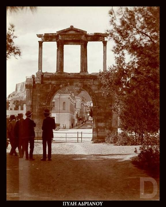 1880. Athens, Hadrian's Arch.