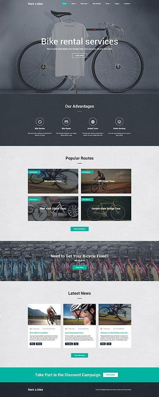 Bike Rental Services #website #template. #themes #business #responsive #websitethemes