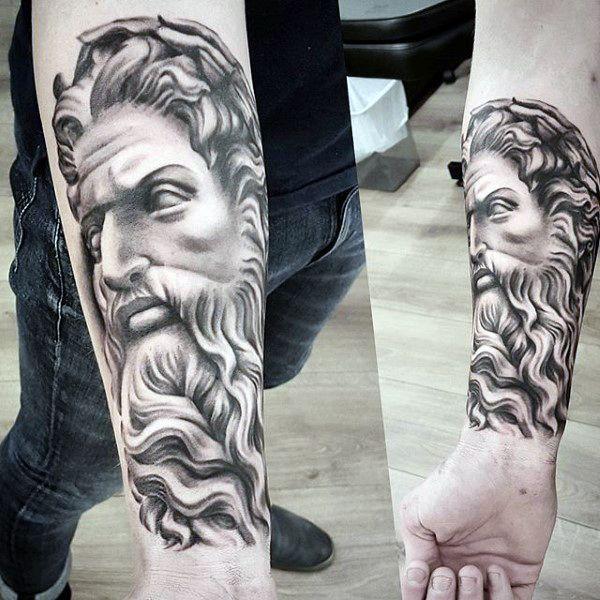 Wrist Tattoo Zeus God Greek For Guys