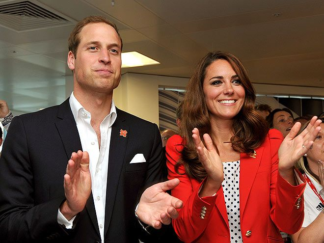 ROYAL FLUSH  Following an adorable PDA session, Prince William and Kate Middleton continue to show their Olympic pride as they cheer on the British cycling team, which won a gold medal during Friday's races in London.