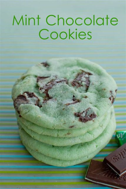 Mint Chocolate Cookies - These look so good!!!!!! try them you dont need to make them green thats just food coloring and the foood coloring might be hard to find for some people so yah just try your best idk what the recipe is i got it for a secret santa i bet you could find a recipe for it just search mint chocolate cookies there might be different ways just choose the one that fits you the best.
