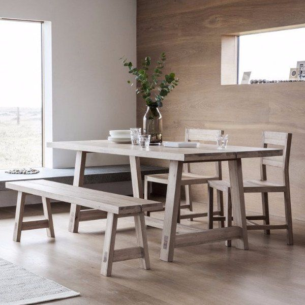 Hudson Living Kielder Oak Dining Table