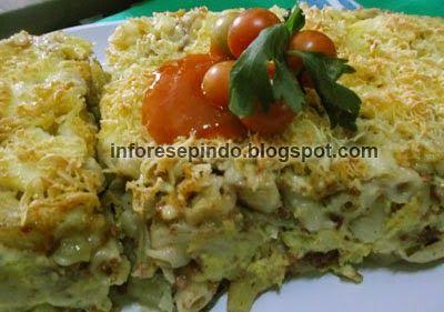 Macaroni Schotel Kentang Panggang (Oven) - Resep Masakan Indonesia