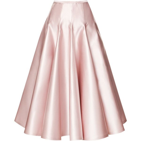 Rochas Duchesse Satin A-Line Skirt found on Polyvore