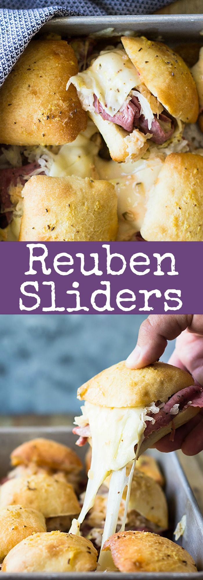 These easy Reuben Sliders make a great appetizer, snack or meal! Piled high with…