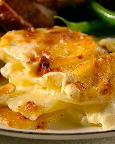 Had Potatoes Dauphinoise at a wonderful dinner tonight....never had potatoes like this before, and it was fantastic!