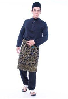 Baju Melayu For Men from Amar Amran in black_1