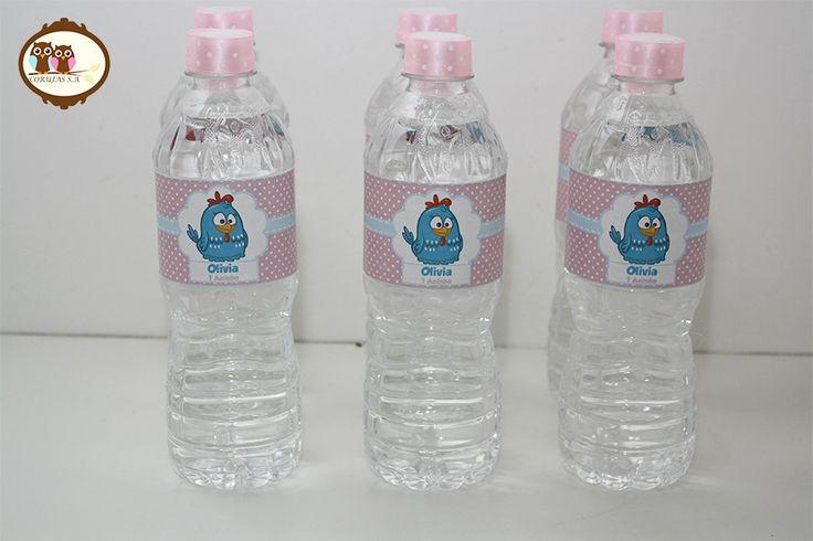 Água Galinha Pintadinha Rosa   Corujas S.A   Elo7