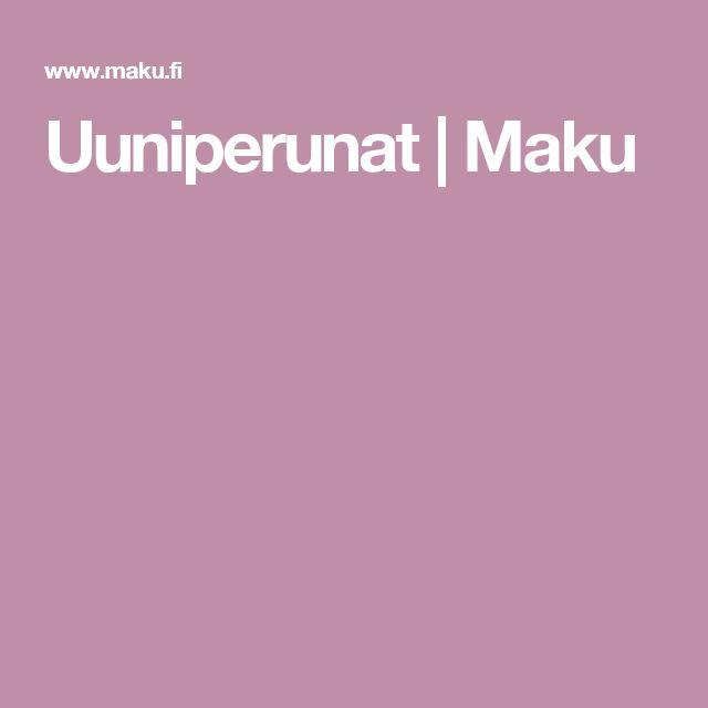 Uuniperunat | Maku