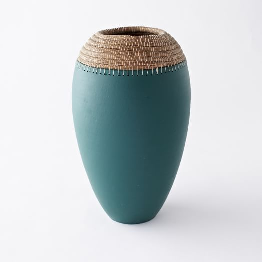 Pine Needle + Clay Vases, Large