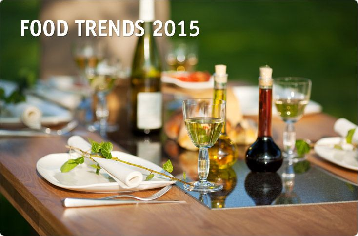 CLEVER STORAGE FOOD TRENDS 2015. Modern consumers enjoy cooking and preparing healthy, tasty food. They're interested in new food combinations, but also value grandma's cooking skills such as preserving jams found in the Food Report 2015. It identifies four trends in the food sector – Hybrid Food, Soft Health, Food Pairing and Do It Yourself that are shaping the eating culture, affecting our daily routines and the foodstuffs offered on store shelves.