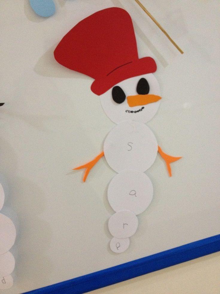 Snowman name print