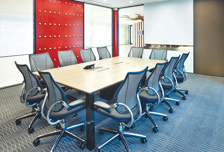 Executive desk boxes were used for better power solutions in this boardroom.