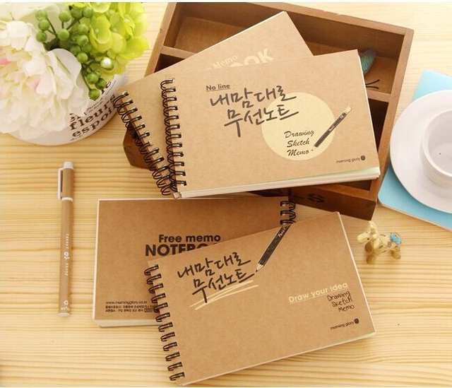 Wholesale Free Shipping Crusty Retro Kraft Paper Blank Notebook