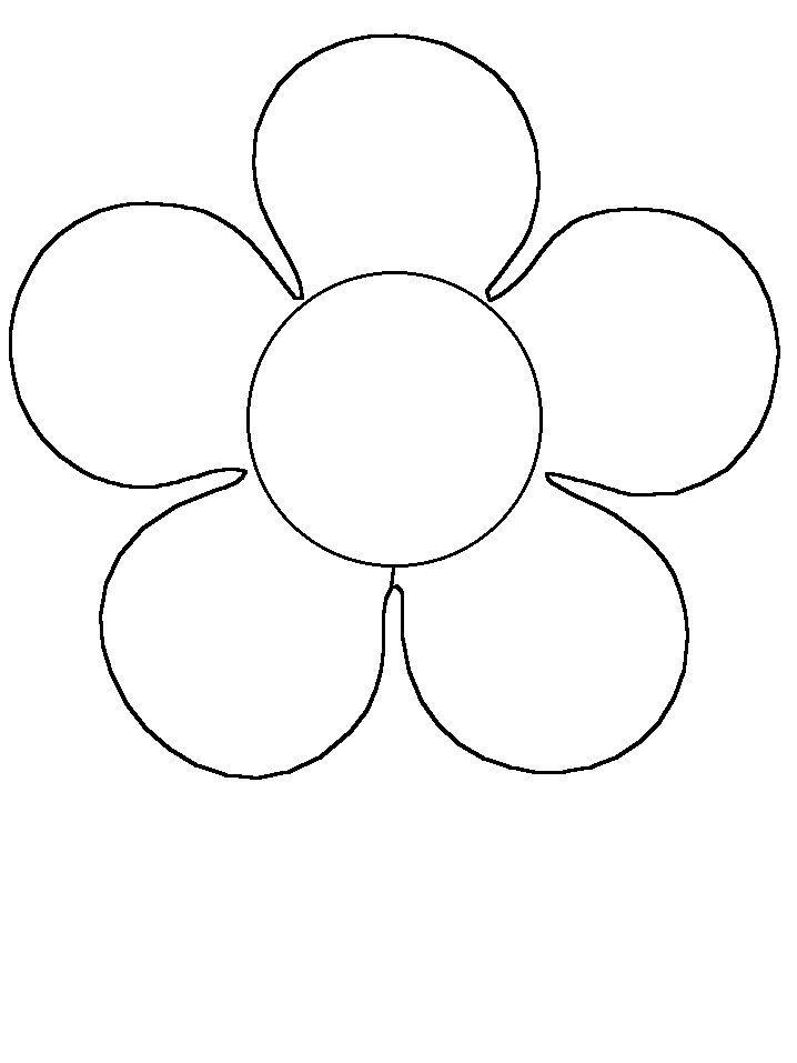 Malvorlage Formen - Blume - #Blume #Formen #Malvorlage