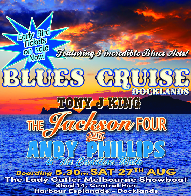 Blues Cruise TICKETS: https://ladycutlermelbourneshowboat.rezdy.com/94950/melbourne-blues-cruise-sat-27th-of-august