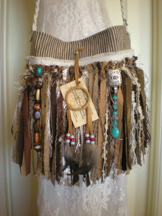Native American Themed Gypsy Fringe Purse Navajo by Pursuation, $65.00