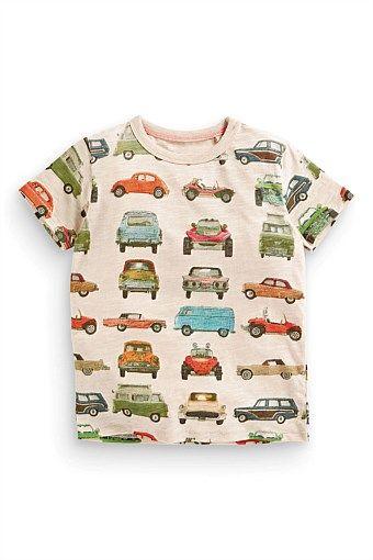 Next All Over Print Car T-Shirt (3mths-6yrs)
