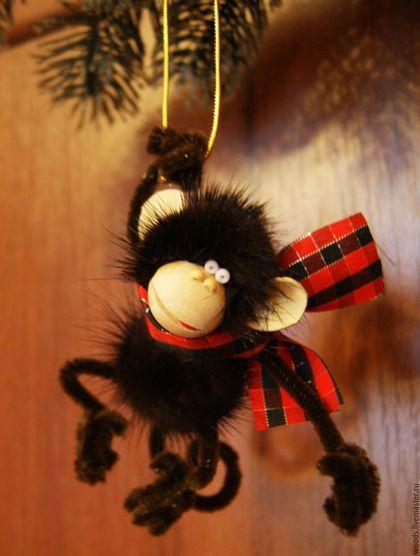 Новый год 2016 ручной работы. Ярмарка Мастеров - ручная работа. Купить Еще одна обезьянка-1. Handmade. Коричневый