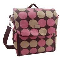 Chocolate Spot Nappy Bag