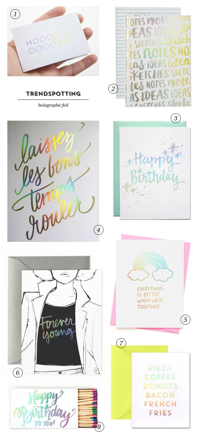 2016 Paper and Stationery Trends : Holographic Foil
