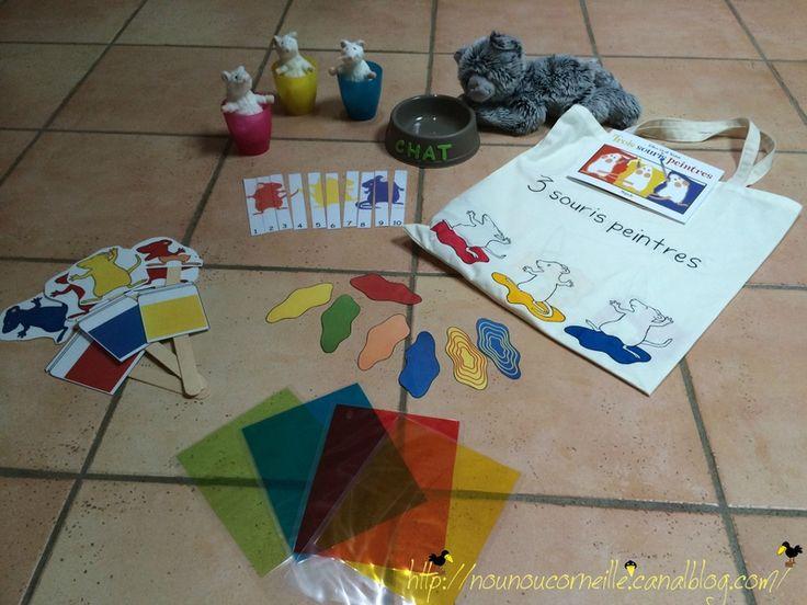 sac à histoire : 3 souris peintres