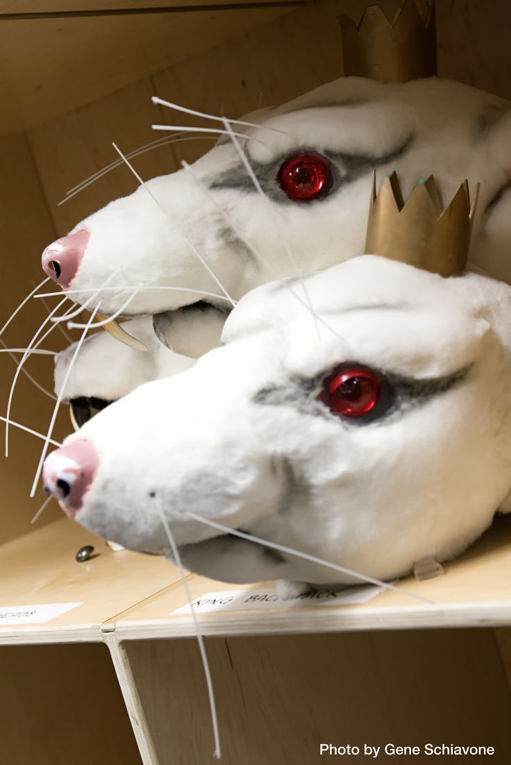 The Rat King mask from The Nutcracker.                                                                                                                                                                                 More