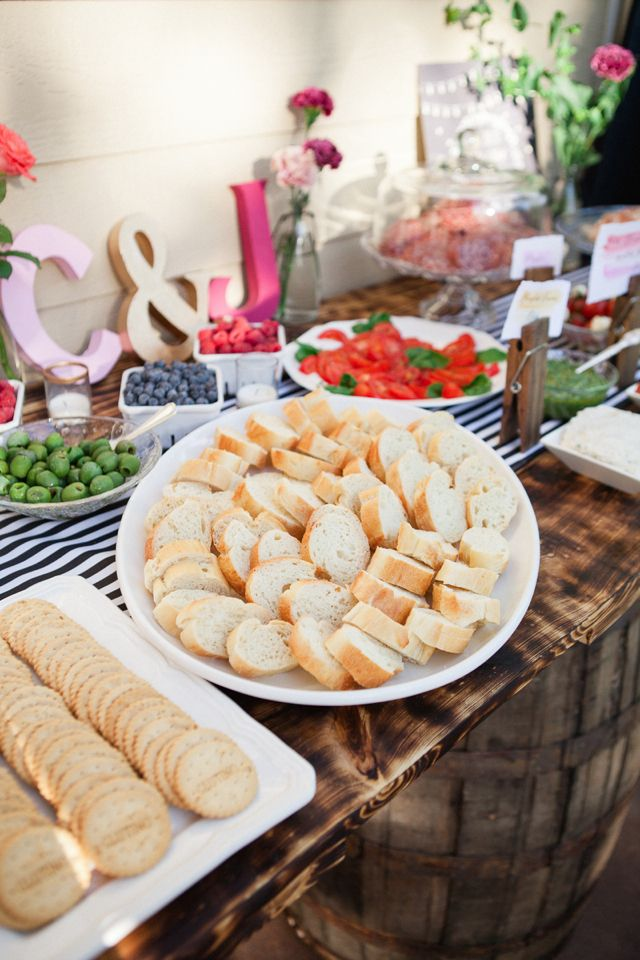 Crostini station | Connie Dai Photography | http://burnettsboards.com/2014/01/style-backyard-engagement-party/
