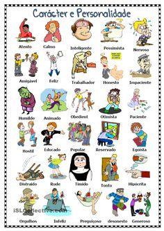 Adjetivos para descrever carácter e personalidade