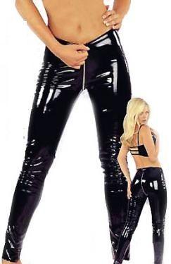 Buy Black Vinyl Zipper Pants At Leathers Shop Zipper From