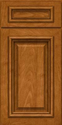 Square Raised Panel - Solid (AA8M) Maple in Golden Lager - Base
