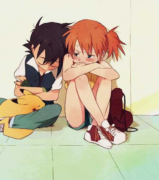 Pikachu, Ash, and Misty.  My 5 year old daughter has just started watching this anime