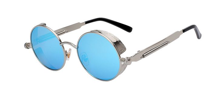 Round Metal Sunglasses - Steampunk for Men and Women