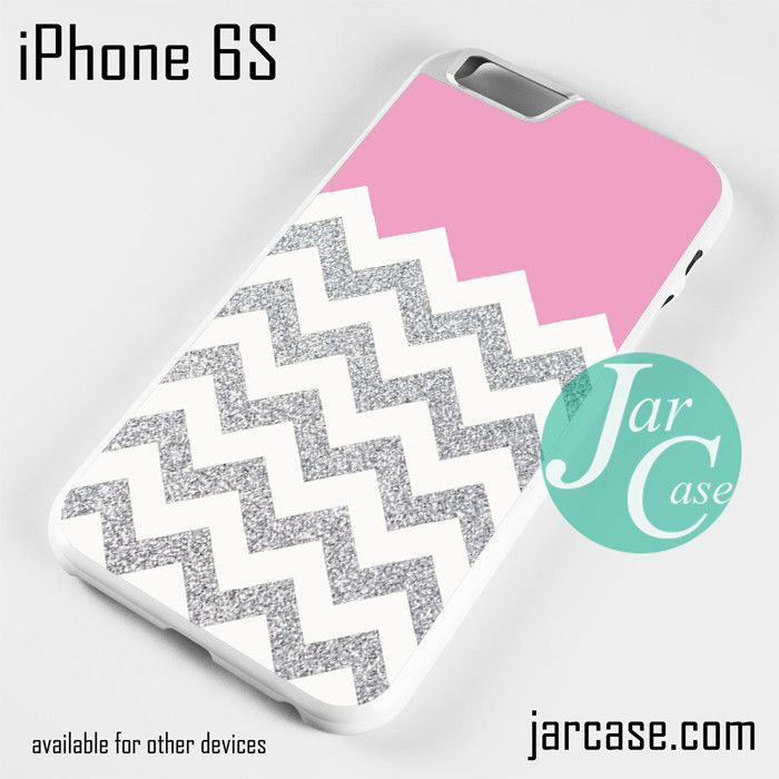 Pink Silver Glitter Chevron Phone case for iPhone 6/6S/6 Plus/6S plus