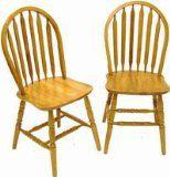 """Boraam 38"""" Arrowback Chair, Set Of 2 in Oak Finish"""