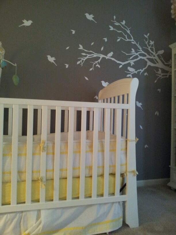 Gray Yellow Baby Room