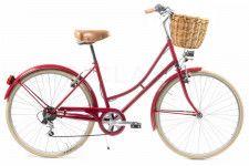 Bicicleta de Paseo Vintage para Mujer Capri Valentina Rojo