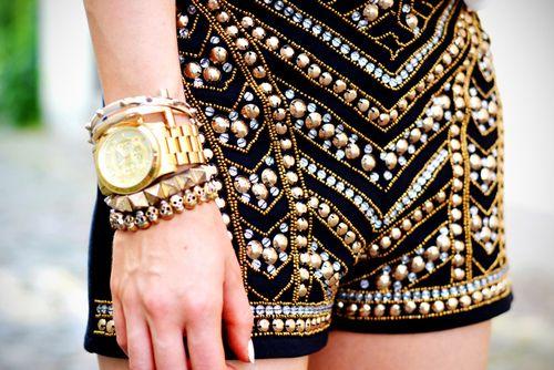 ☮ American Hippie Bohéme Boho Summer Style ☮ Embellished Shorts