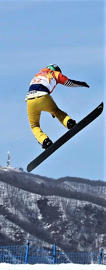 Kevin Hill of Canada, Kalle Koblet of Switzerland, Konstantin Schad of Germany and Jan Kubicik of the Czech Republic compete during the Men's Snowboard Cross 1/8 Final on day six of the PyeongChang 2018 Winter Olympic Games at Phoenix Snow Park on Feb. 15, 2018 in Pyeongchang-gun, South Korea.