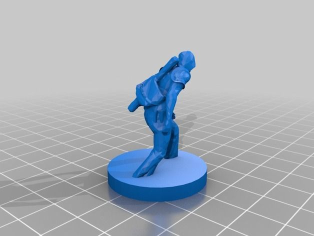 D&D/Pathfinder Rogue Figurine by deusjz - Thingiverse