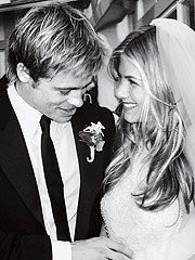 I love the hair to be down for a wedding!  It's soft, feminine and romantic. Jennifer Aniston's hair is a great example.