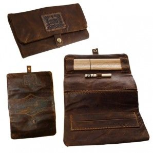 Seems like you have to be really cool to have a leather rolling pouch. Or want to be really cool so you get one, then you become cool. Either way, get this, cool guy! It's a handmade leather rolling pouch with pockets for your smoking accessori