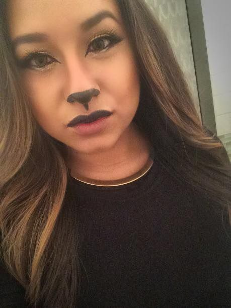 Simple Halloween Cat Makeup